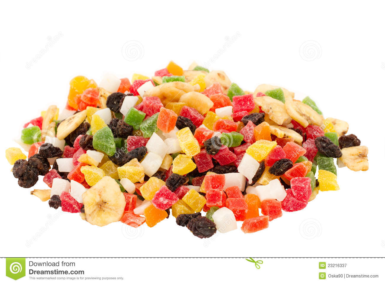 Mixed Dried Fruits Royalty Free Stock Photography.