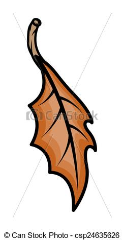 Vector Illustration of Nature Dry Leaf Vector.