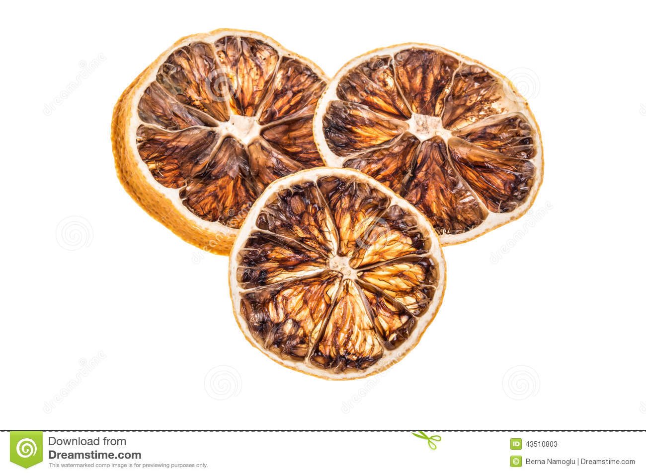 Dried Lemon Slices Stock Photography.