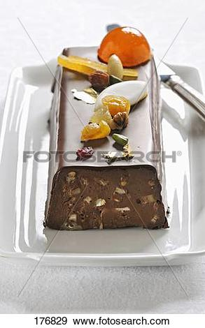 Stock Photograph of Chocolate,Calisson,dried fruit and candied.