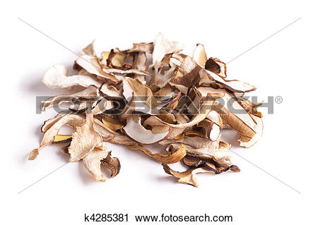 Stock Photography of dried mushrooms k4285381.