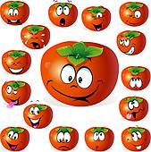 Persimmon Clip Art EPS Images. 487 persimmon clipart vector.