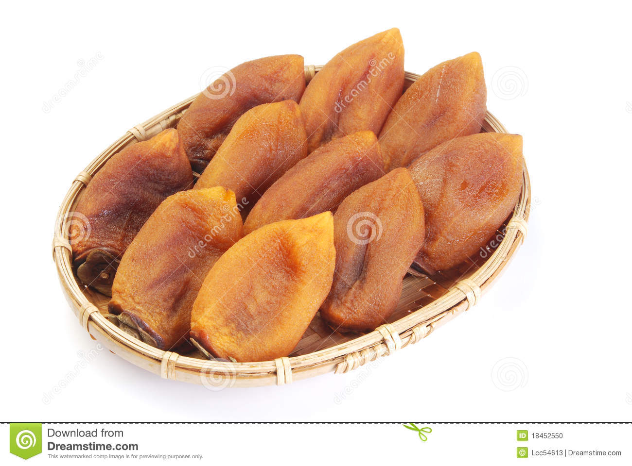 Dried Persimmon Stock Photo.