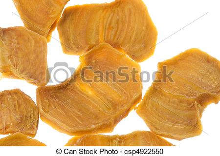 Stock Photography of Dried Persimmon Isolated.