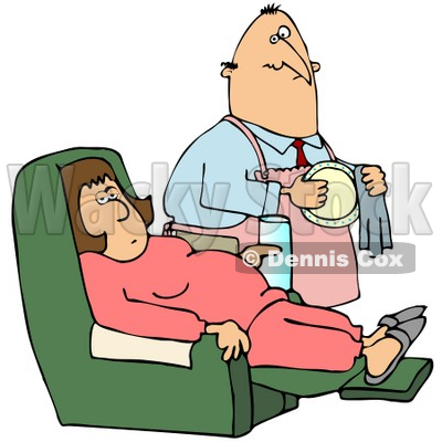 Couch Potato Clipart by Dennis Cox.