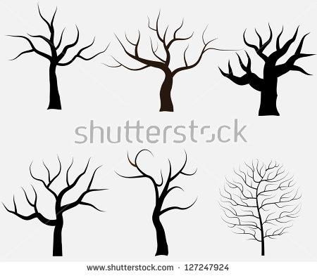 Bare Tree Silhouette Stock Photos, Royalty.