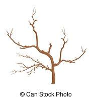 Clip Art Vector of Dry Dead Tree.