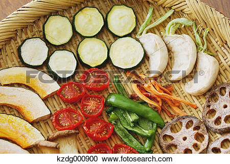 Stock Photography of Dried vegetables kzdg000900.