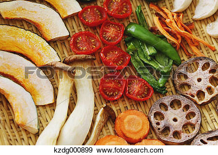 Stock Photograph of Dried vegetables kzdg000899.