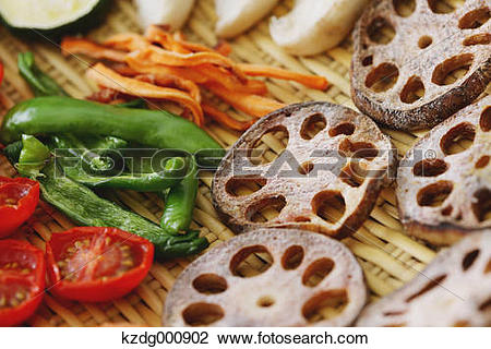 Stock Photo of Dried vegetables kzdg000902.