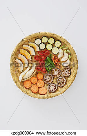 Stock Photo of Dried vegetables kzdg000904.