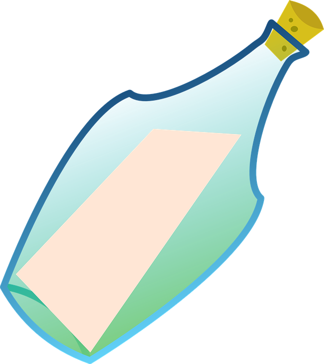 Free vector graphic: Message In A Bottle, Bottle.