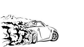 Drift Car Stock Vector.