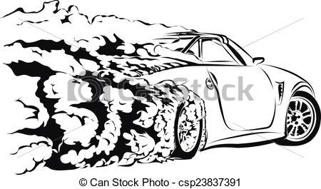 EPS Vectors of car sport drift csp23837391.