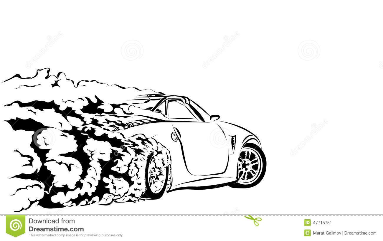Clipart car drift.