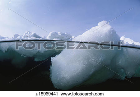 Stock Photography of Drift Ice From The Half.