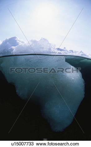 Stock Photo of Drift Ice From The Half.