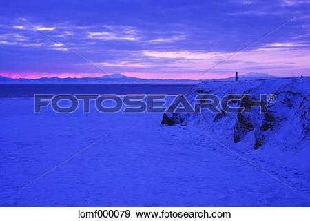 Stock Photograph of Drift ice, Hokkaido lomf000079.