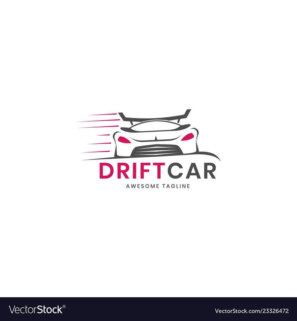 Drift car logo design inspiration.
