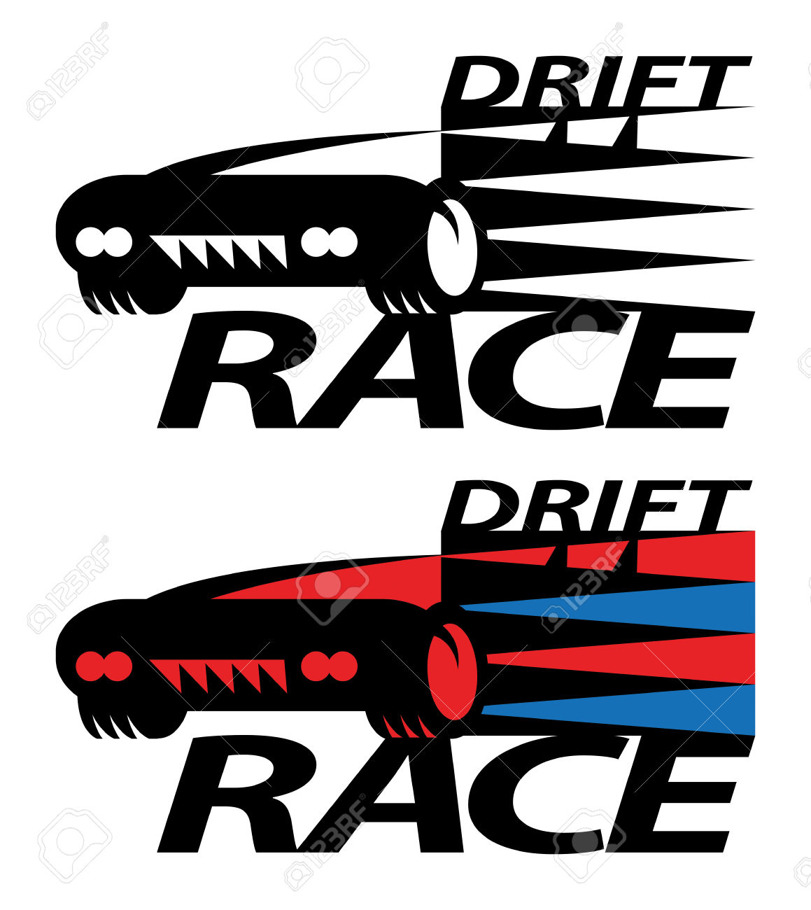 Drift Race Sign Or Symbol Royalty Free Cliparts, Vectors, And.