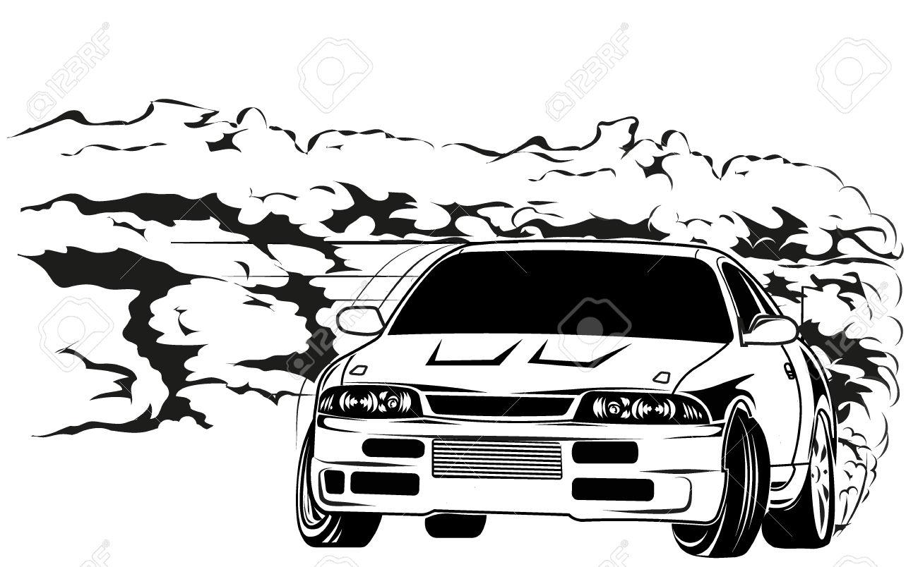 Drift car clipart hd.