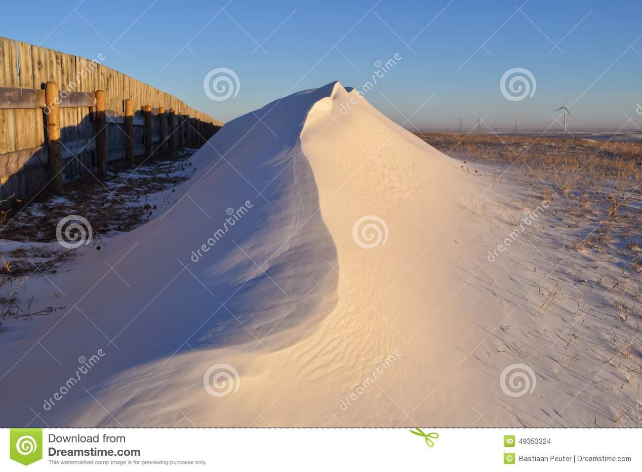 The Snow Drift Stock Photo.