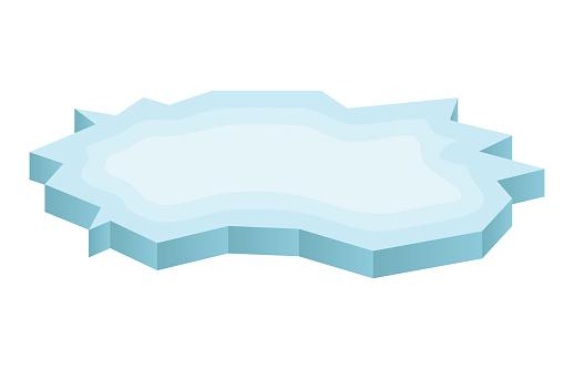 Ice floe clipart.