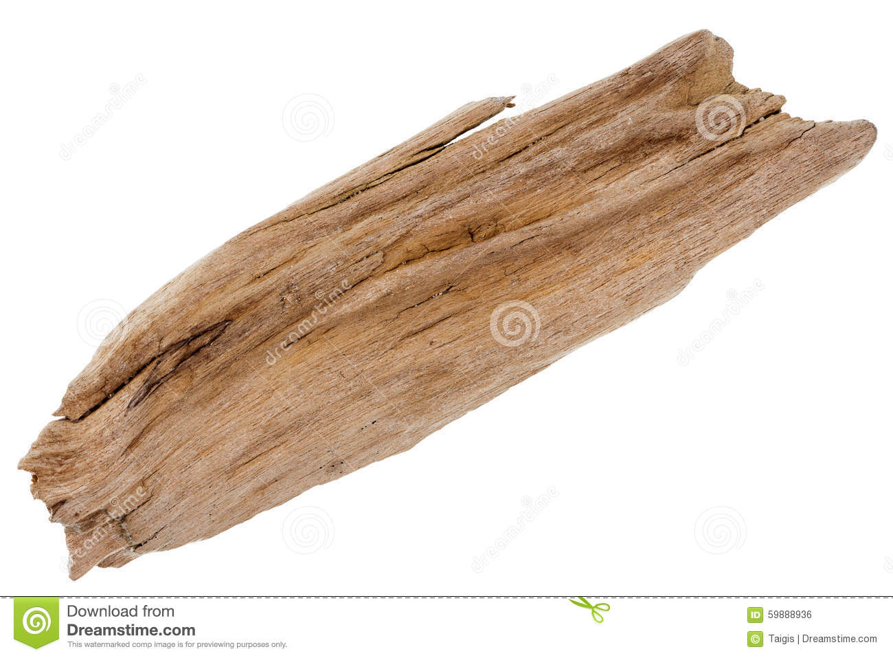 Piece Of Driftwood Royalty Free Stock Photography.