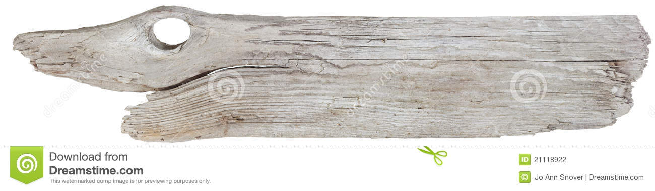 Driftwood Plank Royalty Free Stock Images.