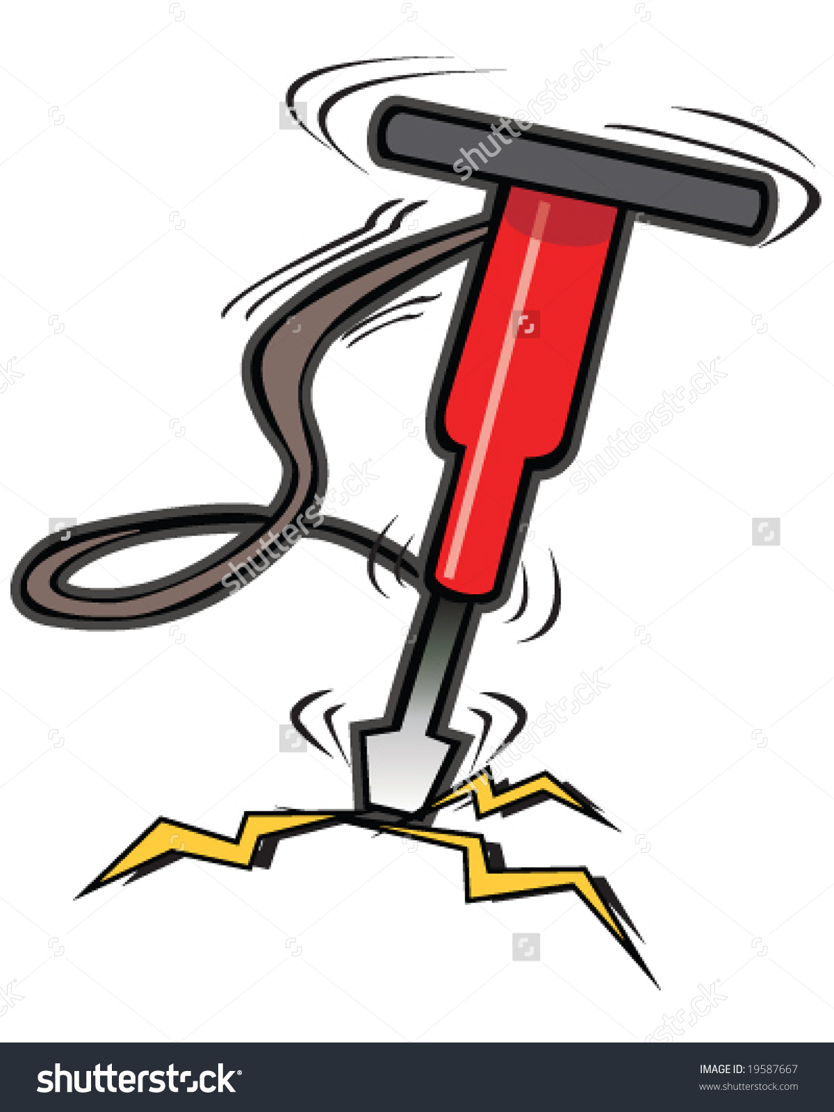 Hammer Breaking Rock Stock Vectors & Vector Clip Art.