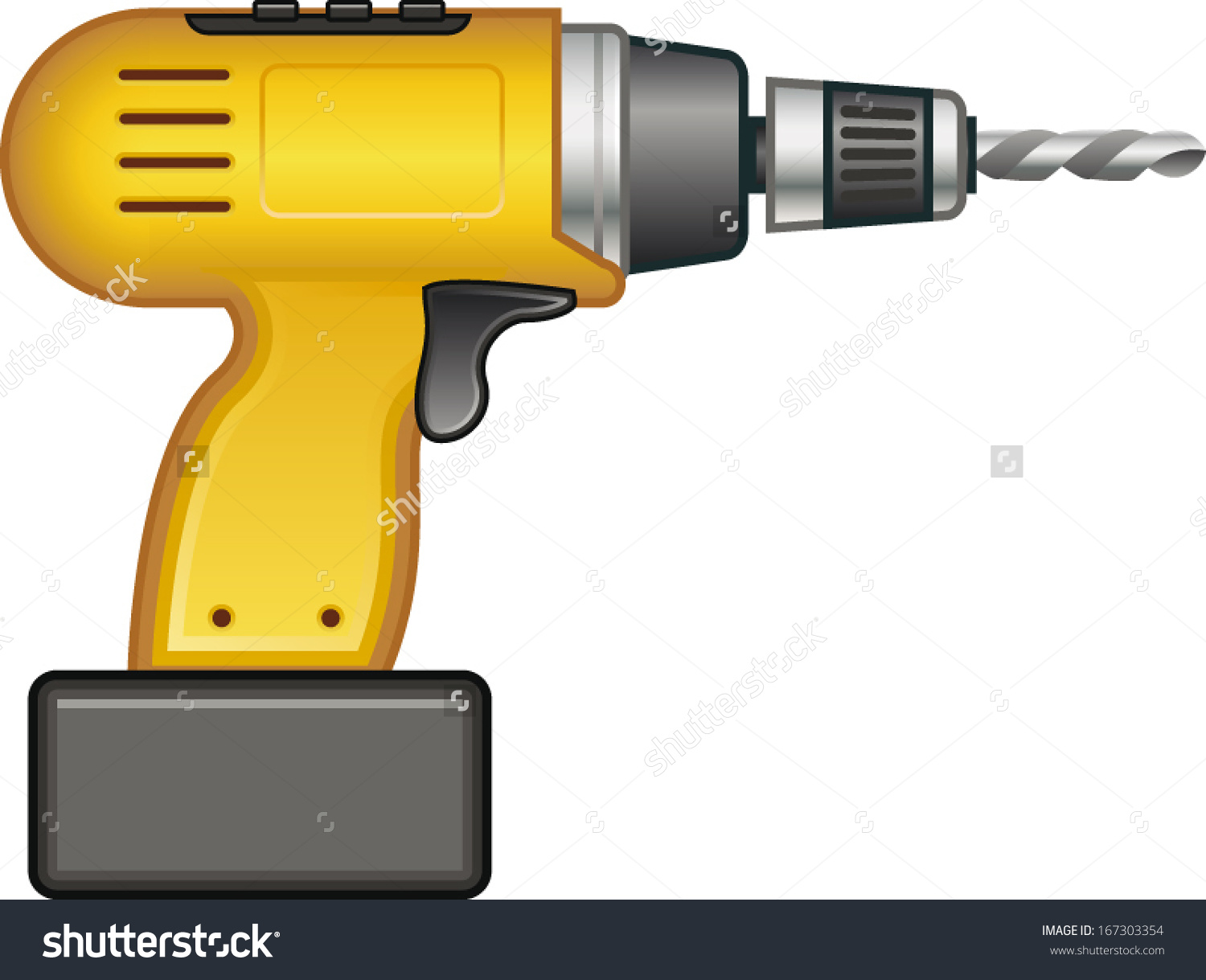 Drill Machine Stock Vector 167303354.