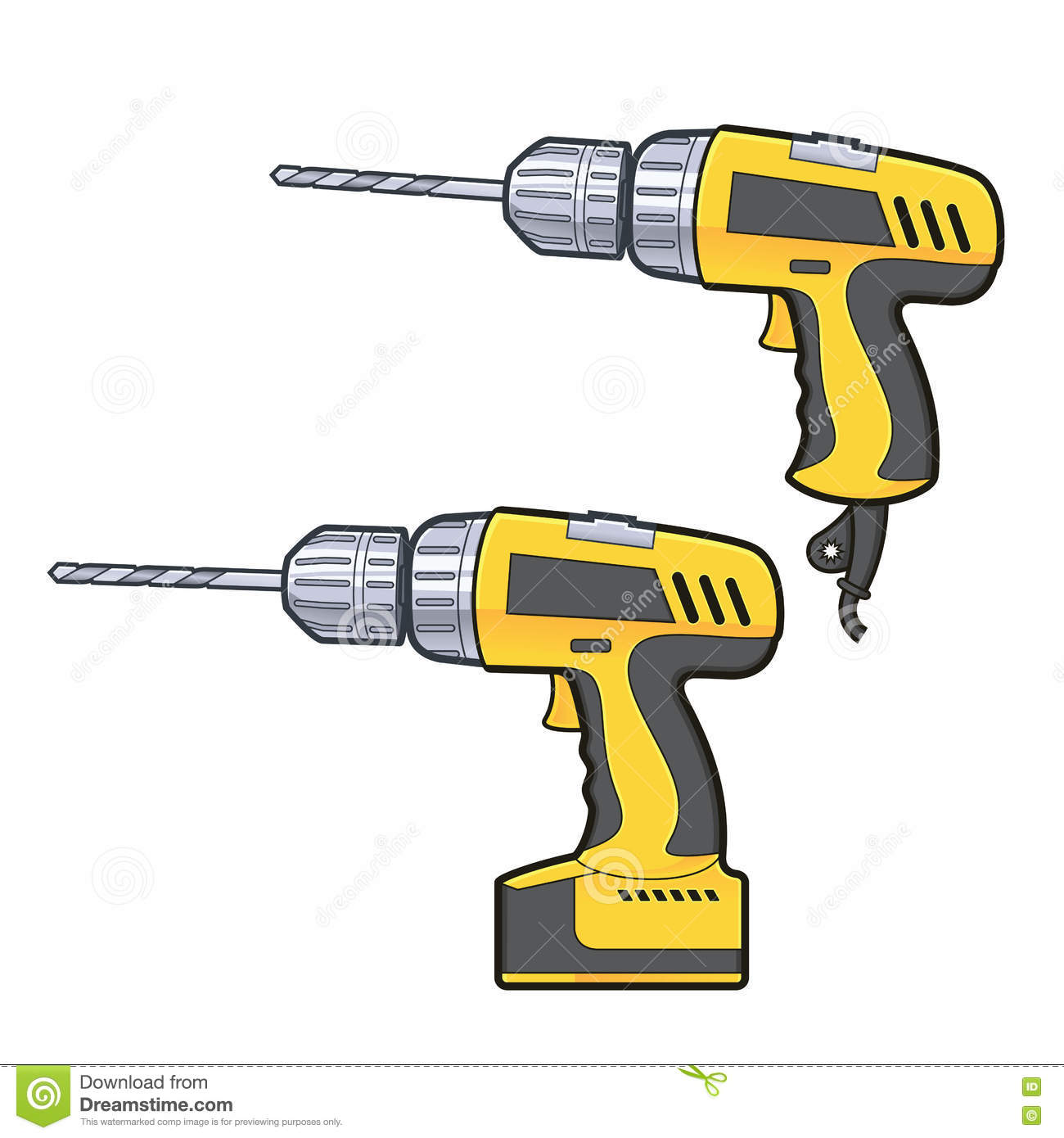 Drilling Machine Stock Vector.