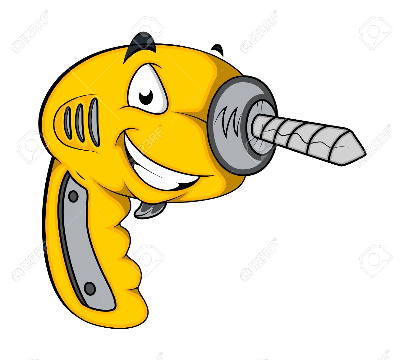 Drill Machine Mascot Vector Royalty Free Cliparts, Vectors, And.