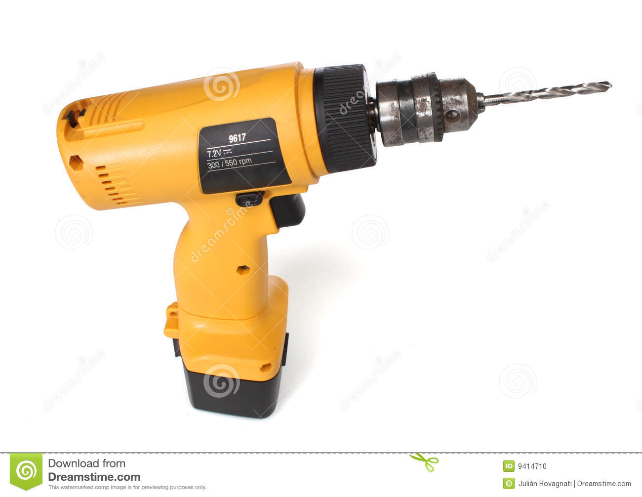 Cordless Drill Machine Stock Photo.
