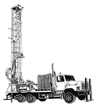 Drill rig clipart.