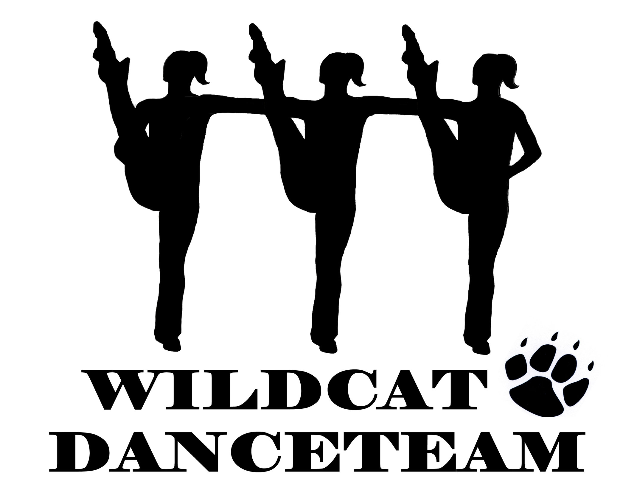 High school drill team kick clipart.