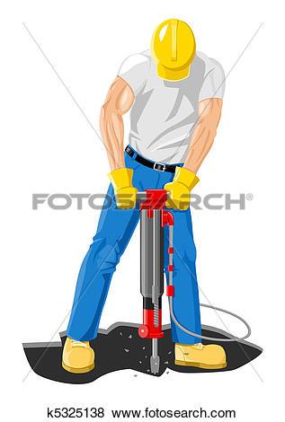 Clip Art of Drilling k5325138.