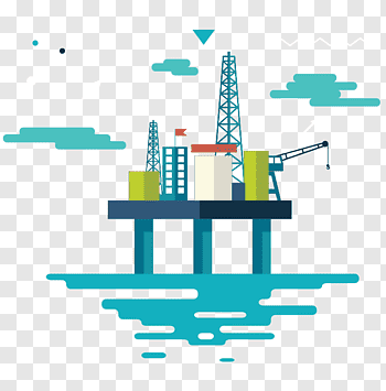 Drilling rig cutout PNG & clipart images.