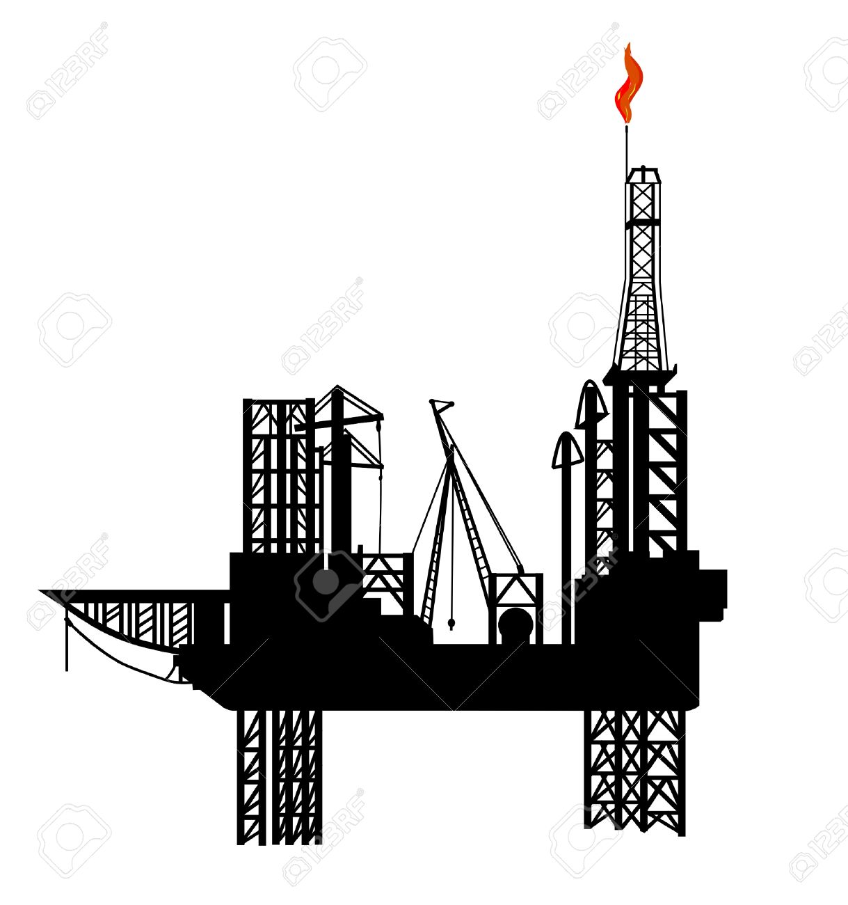 Drilling rig clipart free.