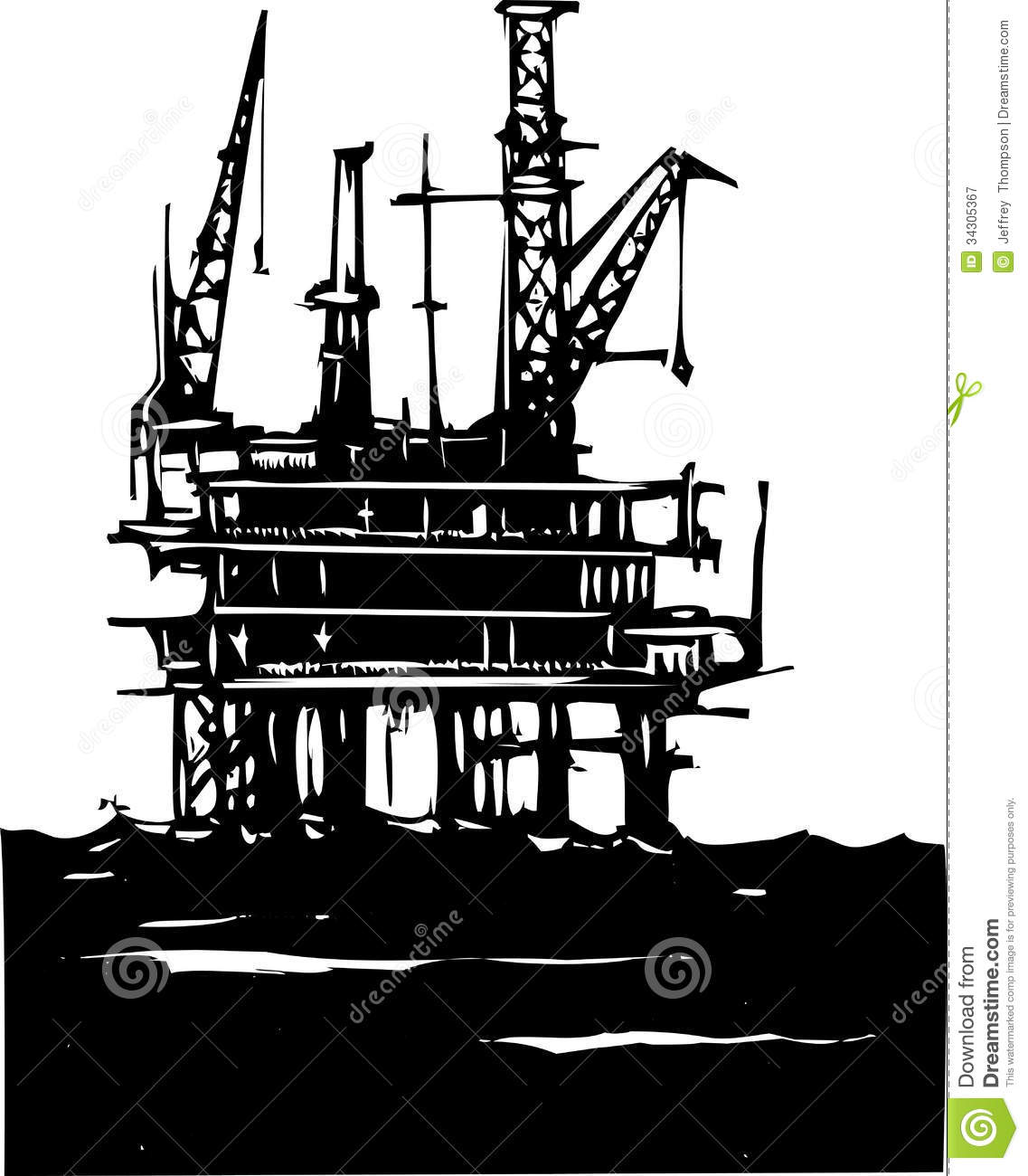 Drilling Rig Clipart.