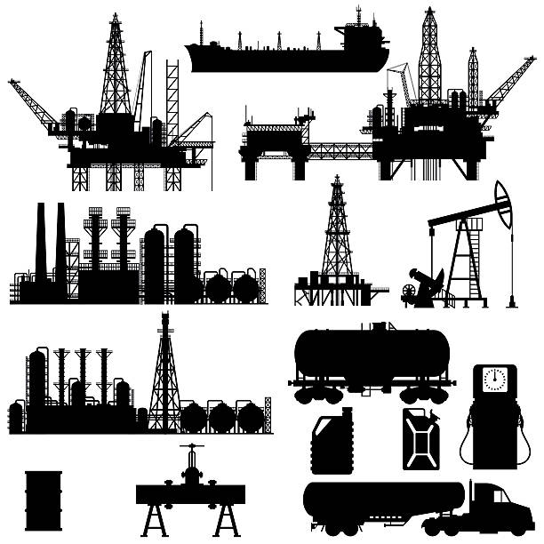 Best Drilling Rig Illustrations, Royalty.