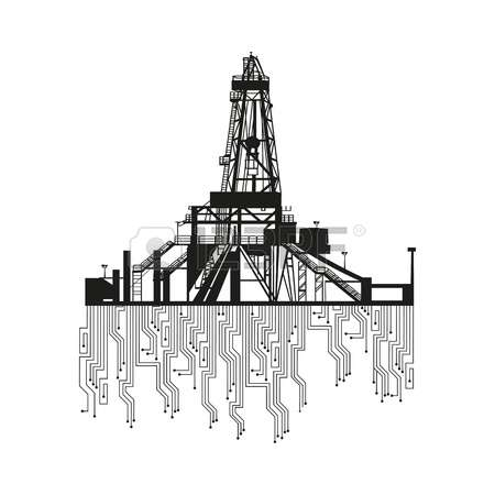 4,433 Drilling Rig Stock Vector Illustration And Royalty Free.