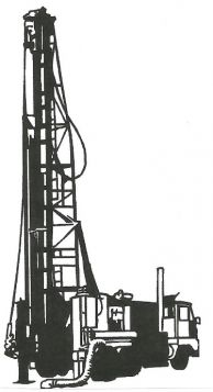 Water well drilling rig clipart.