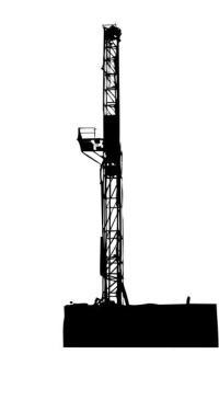 Drilling Rig Derrick Clipart.