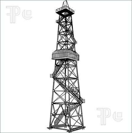 Oil Drilling Tower Clipart.