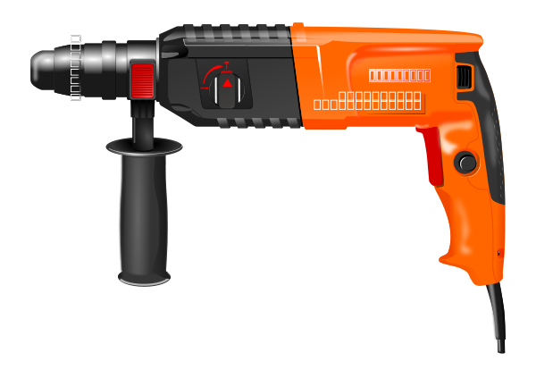 Photorealistic Drill SVG Vector file, vector clip art svg file.