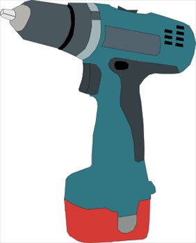 Power drill clipart #3
