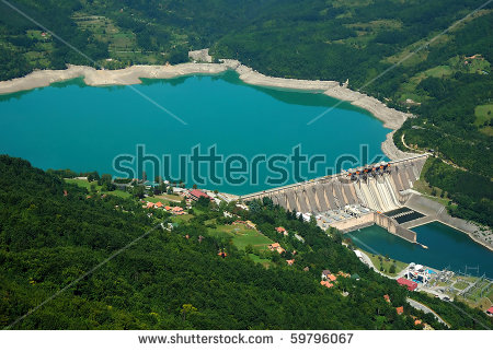 River Dam Stock Images, Royalty.