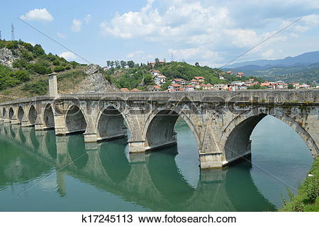 Stock Photo of Bridge on Drina k17245113.