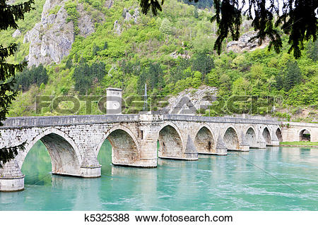 Pictures of bridge over Drina River k5325388.